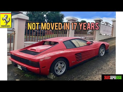 Abandoned Ferrari Testarossa Sat for 17 Years at the Side of a Road.