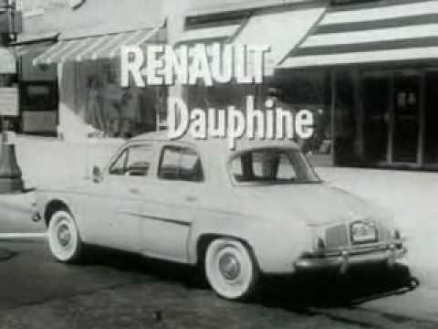Renault Dauphine Classic TV Commercial (1958)
