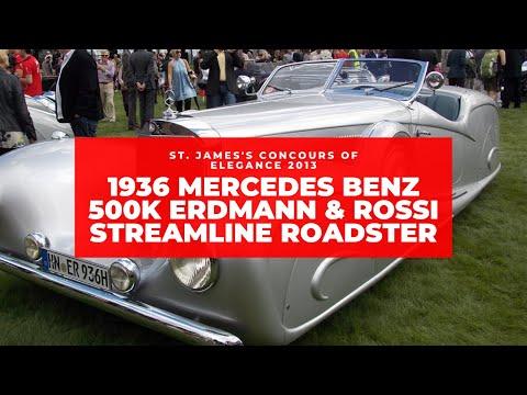 1936 Mercedes Benz 500K Erdmann & Rossi Steamline Roadster at St. James's Concours of Elegance