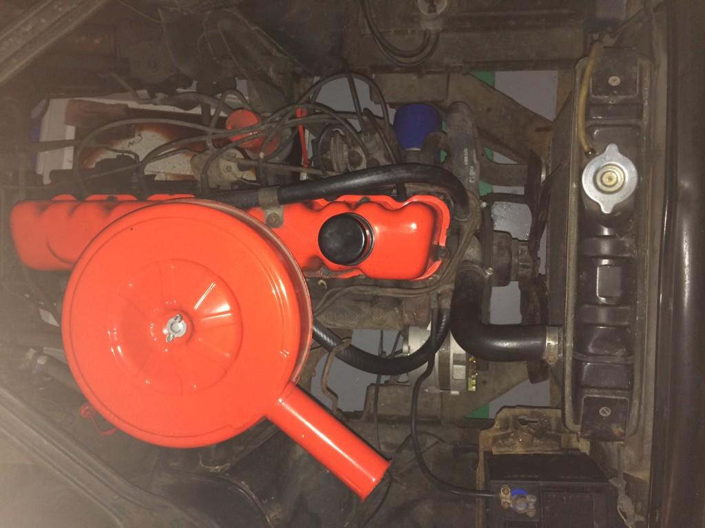 Mustang in lijn 6 cilinder motorblok