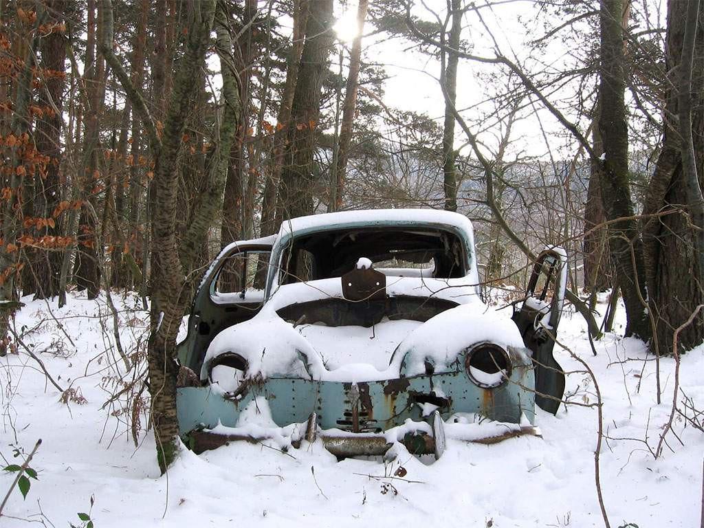 oldtimer in de winterstalling