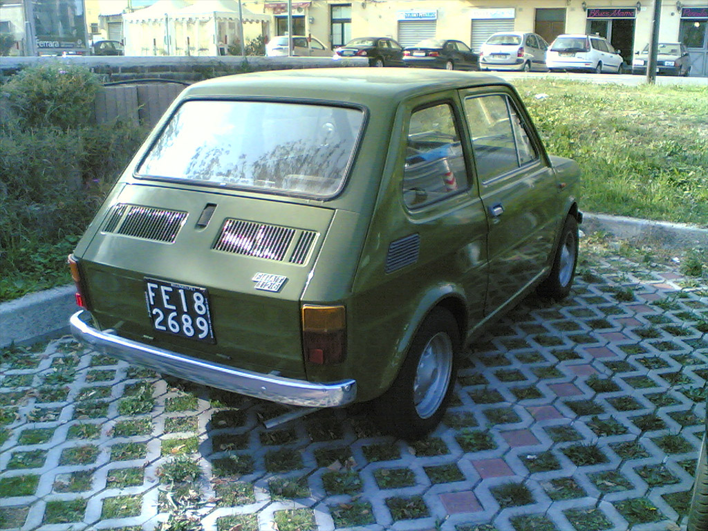 Fiat 126 achterzijde