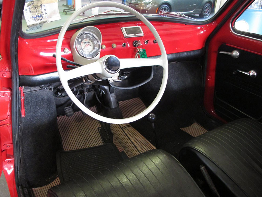 Fiat 500 klassiekerweb for Interieur fiat 500