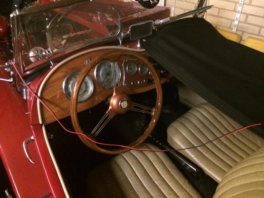 MG TD2 1953 interieur