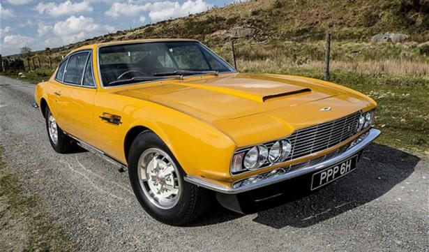 De gele Aston Martin DBS uit ' The Persuaders '