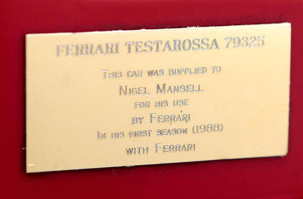 Ferrari testarossa Nigel Mansell