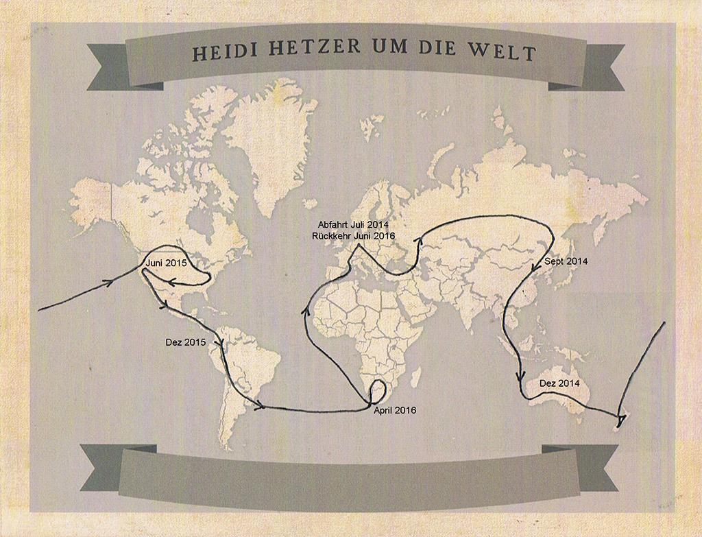 Heidi Herzer wereldreis