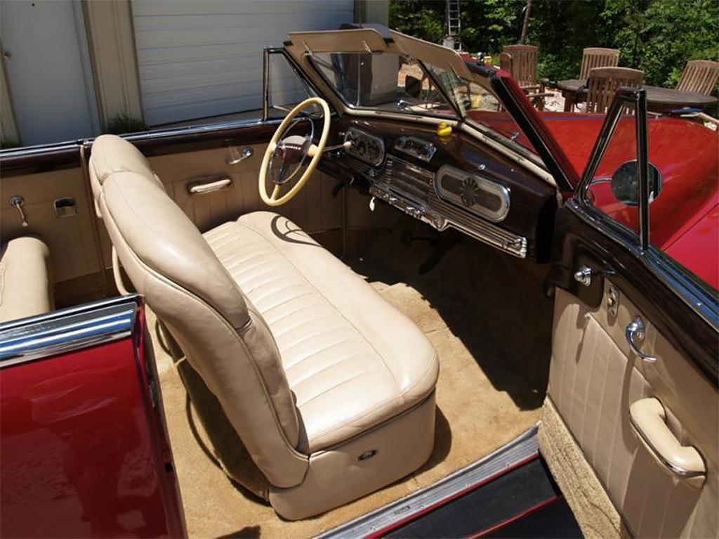 Oldsmobile 98 cruiser cabrio interieur 1947