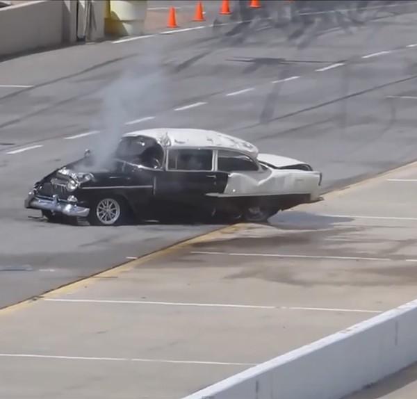 chevy 1955 ongeluk