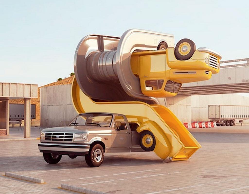 3D auto elastiek kunst