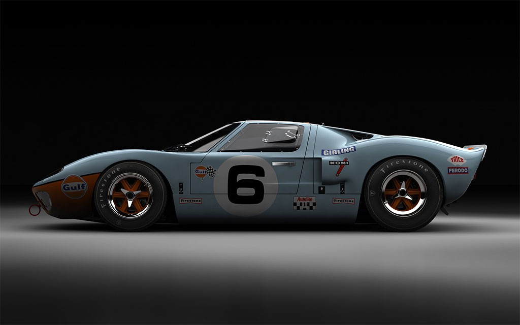 ford GT40 lemans gulf