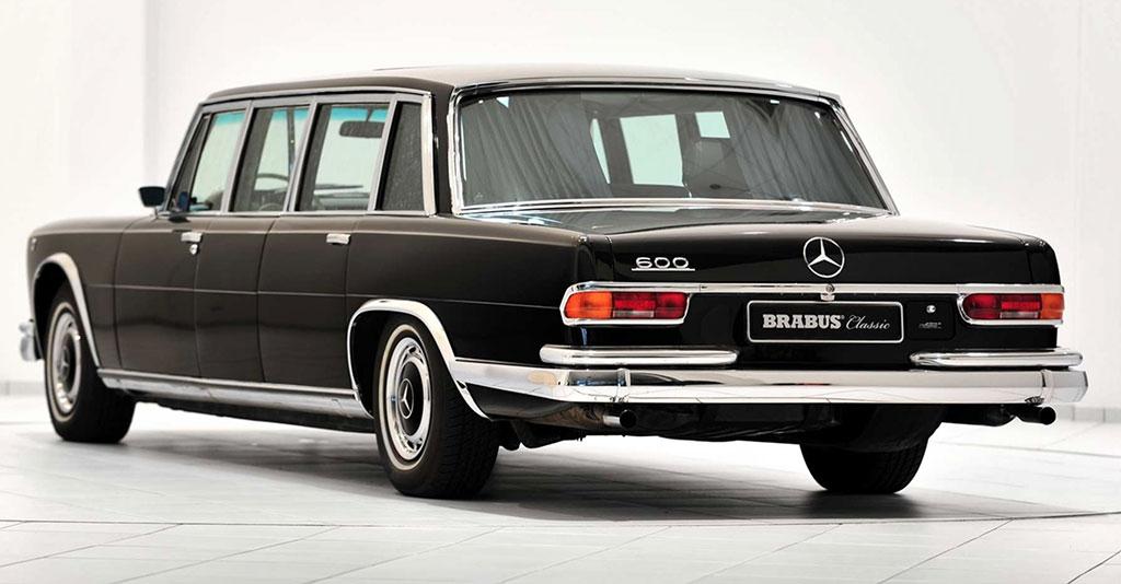 Mercedes-Benz 600 Pullman W100 achterzijde
