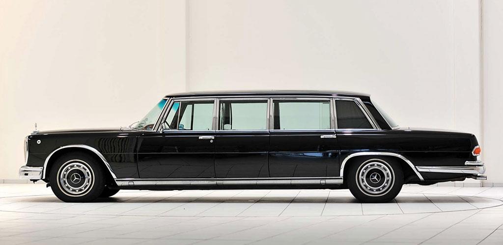 Mercedes-Benz 600 Pullman W100 zijkant