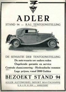 Adler post autorai 1931