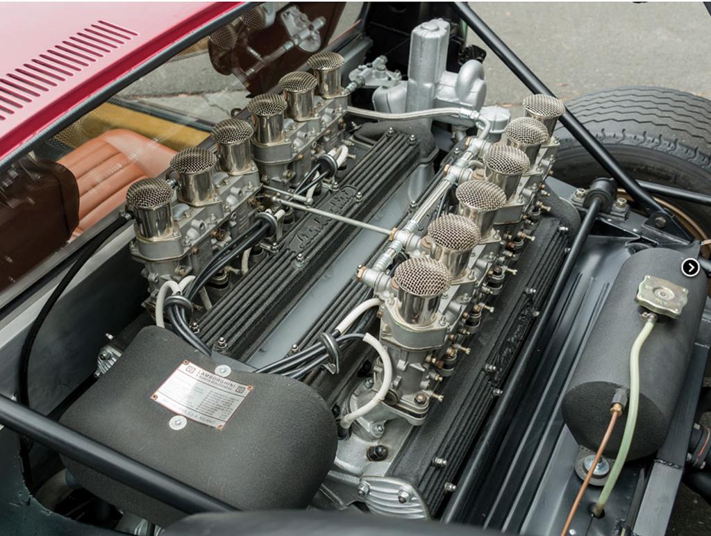 lamborghini miura SV jota uit 1970 motor