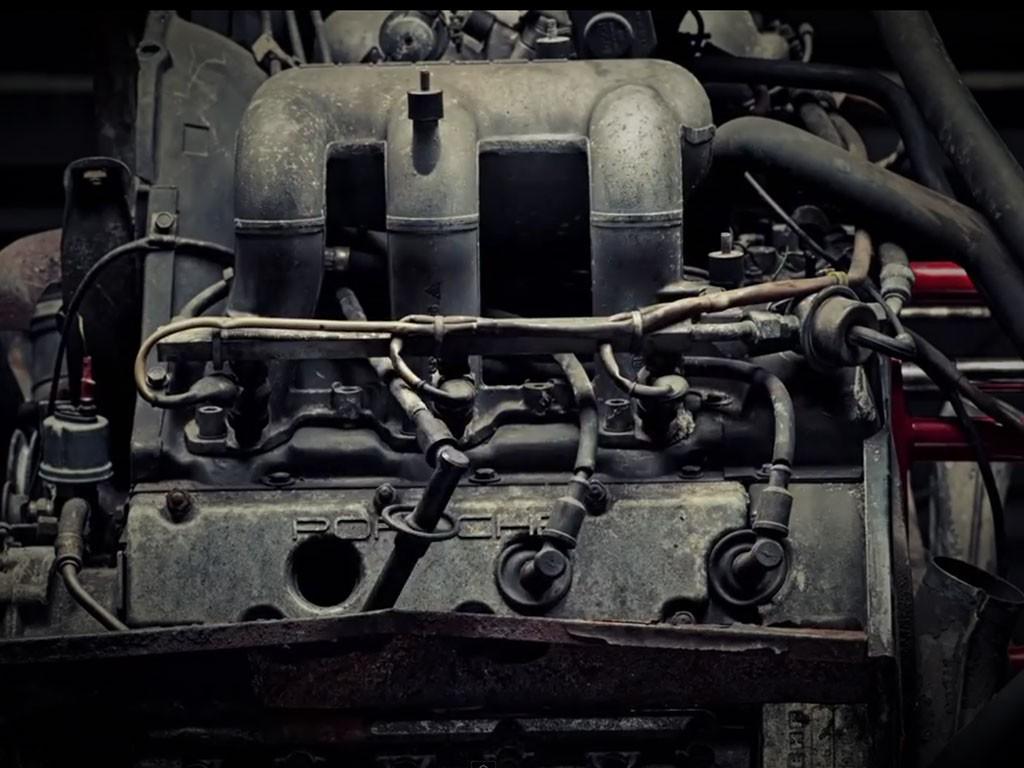 porsche motor stop motion