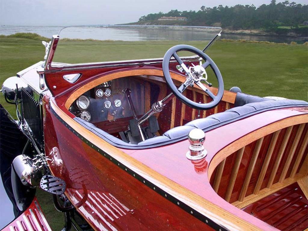 Rolls Royce Silver Ghost Labourdette Skiff-Torpedo interieur 1914