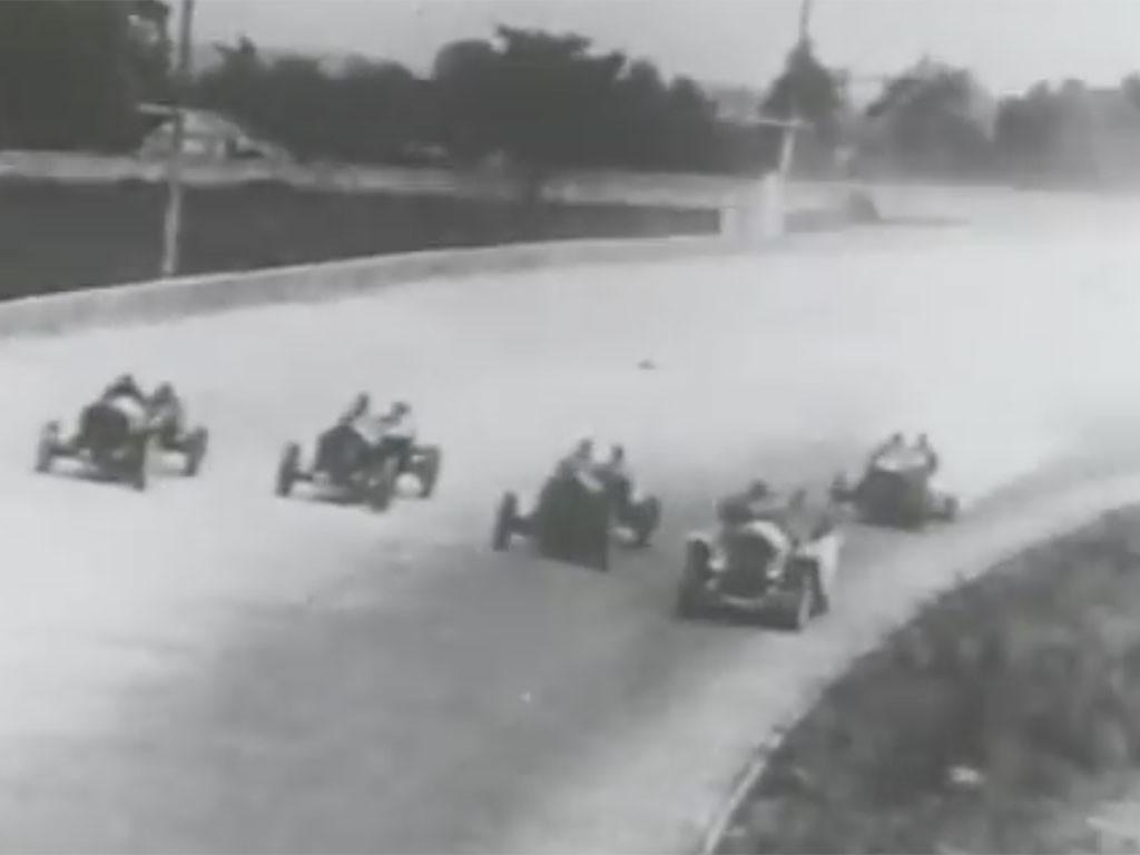 Indy 500 bestuurder en spotter
