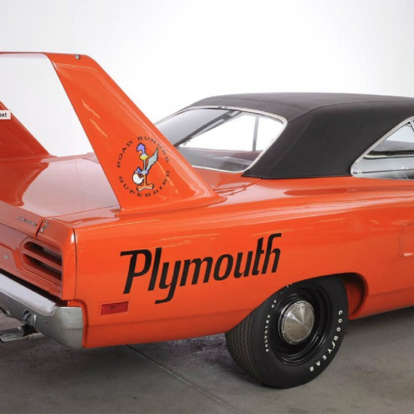 plymouth roadrunner superbird achterzijde