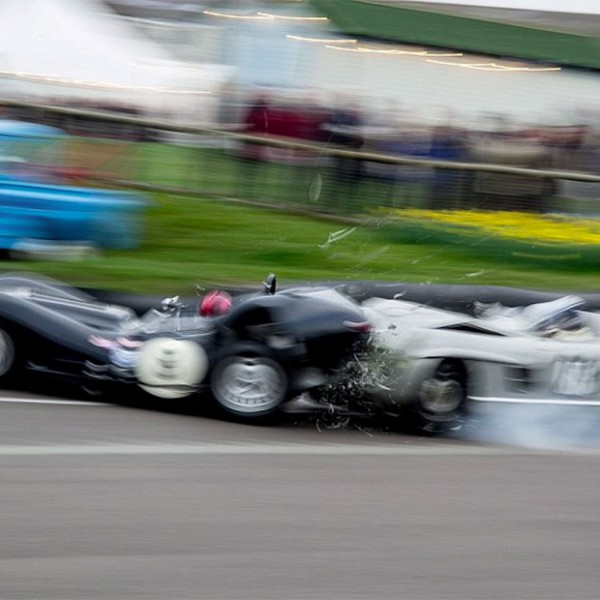 crash Goodwood mercedes 300 SLS Porter special