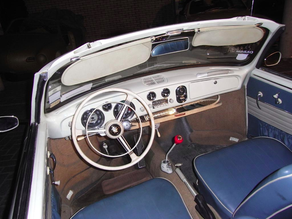 karmann ghia cabrio type 1 interieur