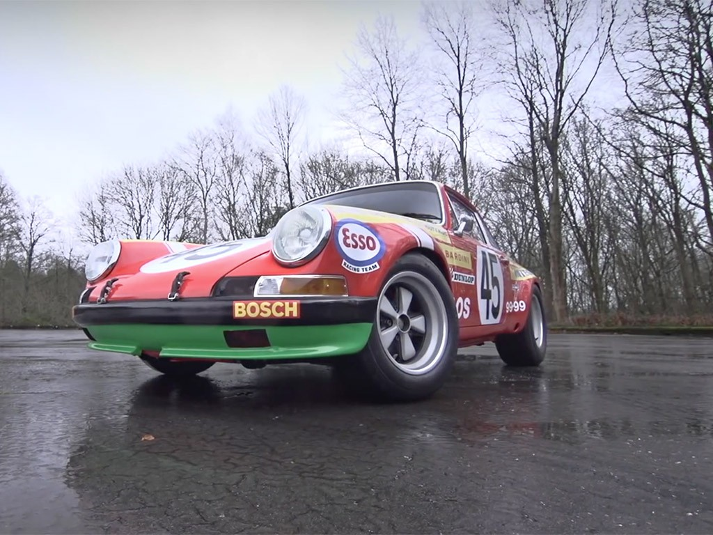 porsche 911S rally voorkant