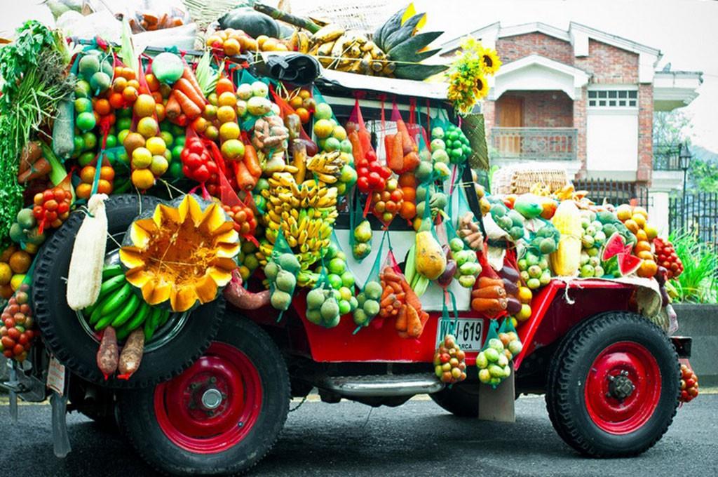 kleurrijke Jeep