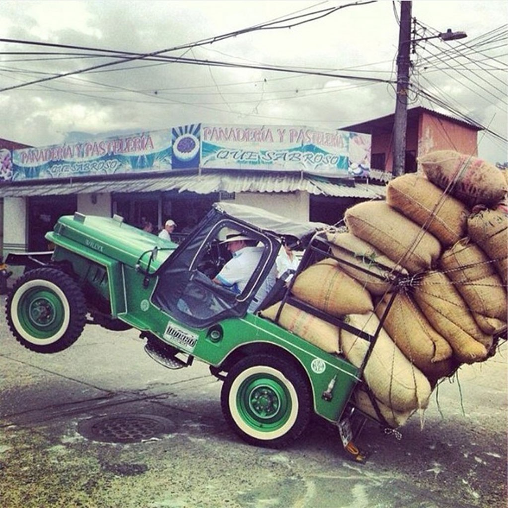 Jeep op de achterwielen