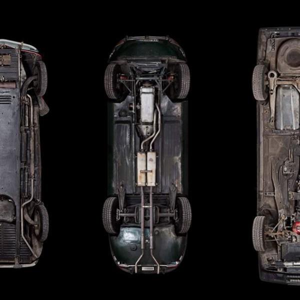 auto reverse laat onderkant van auto's zien