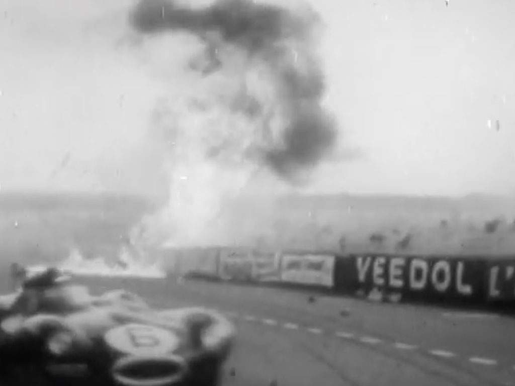 crash lemans 1955