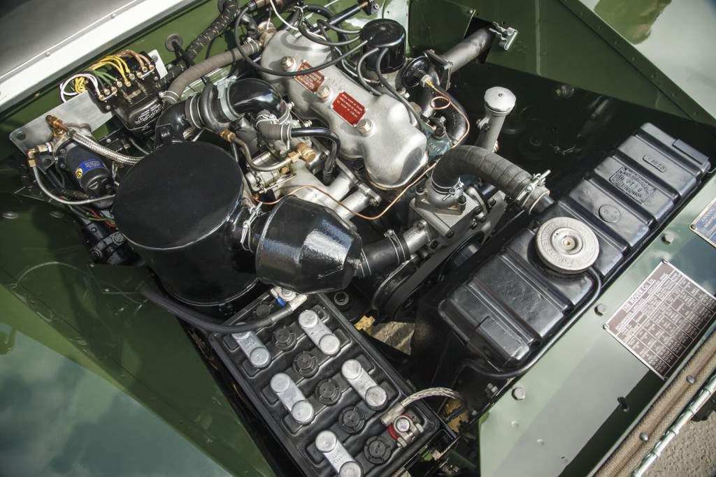 motor van de restored land rover series 1