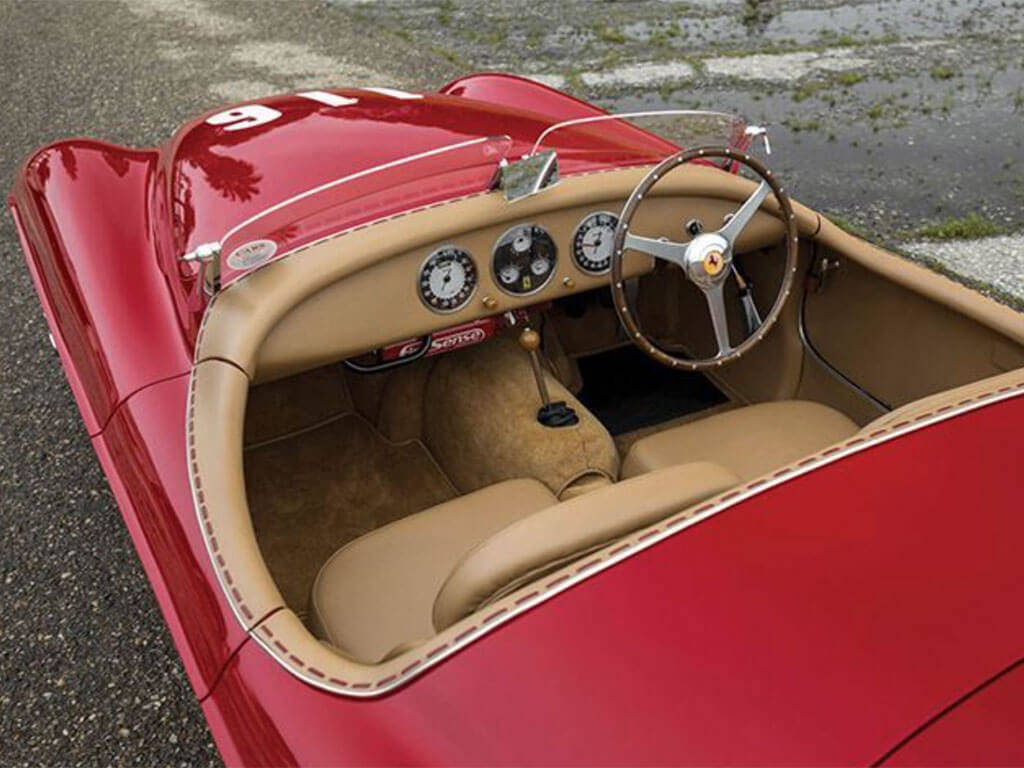 interieur ferrari 166 MM touring uit 1950