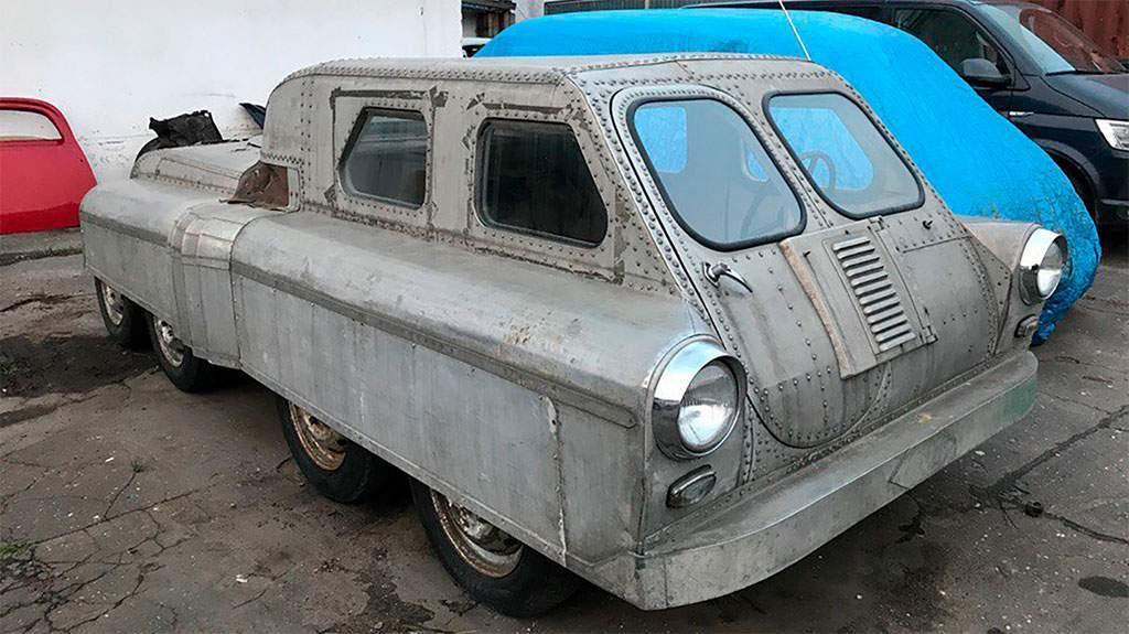 8-wielig sovjet amfibievoertuig gevonden