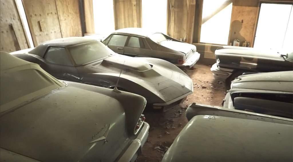 barn find van meer dan 100 auto's in de VS