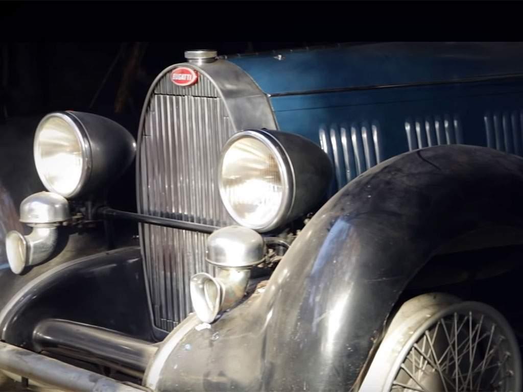 barn find belgië 3 klassieke bugatti's