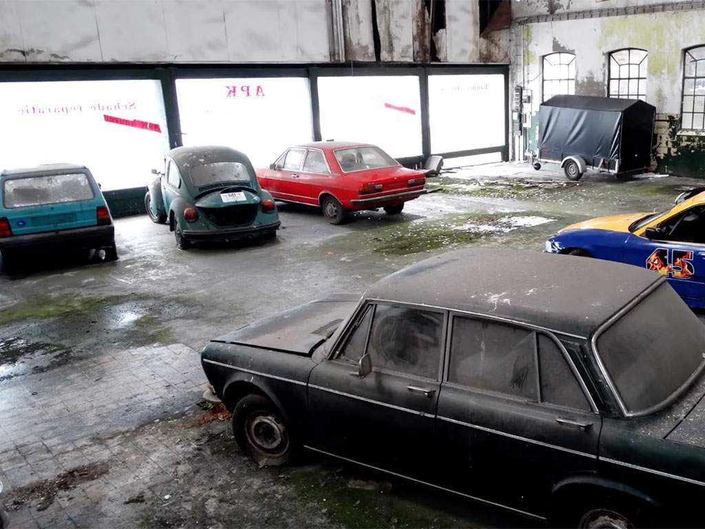 urban explorers bezoeken verlaten garage in Drenthe