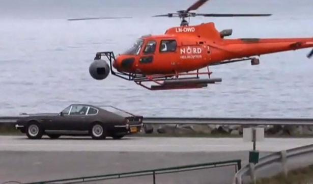 aston martin v8 vantage in Bond 25