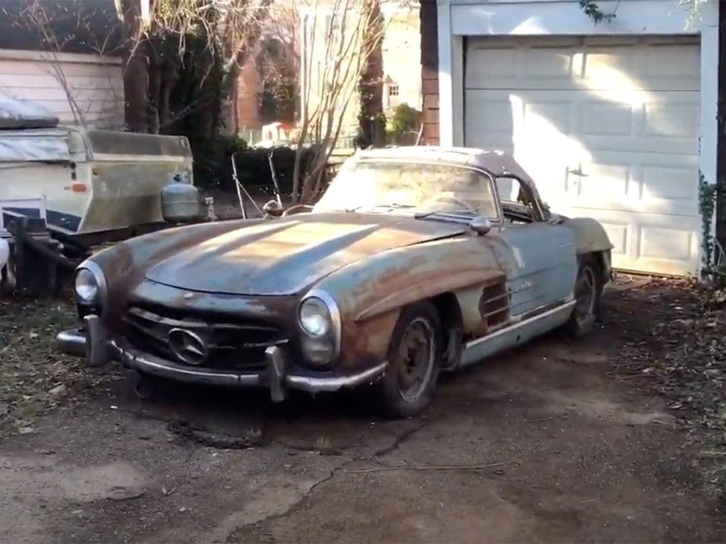 verwaarloosde 300 sl cabrio 1961
