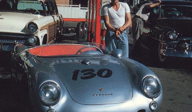 James Dean en zijn porsche 550 spyder